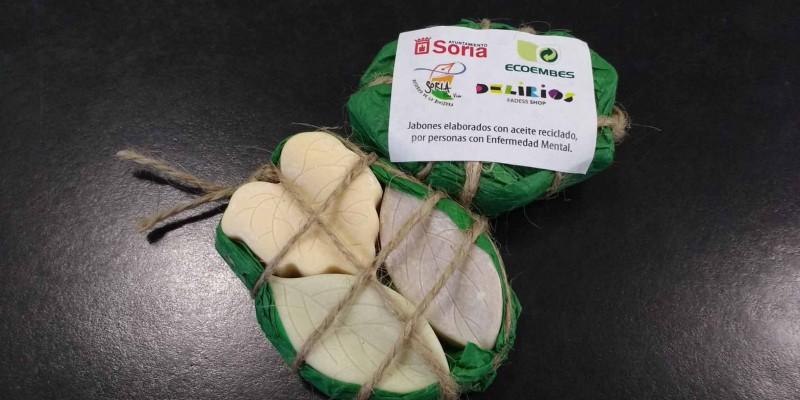 Jabones reciclados Asovica Salud Mental