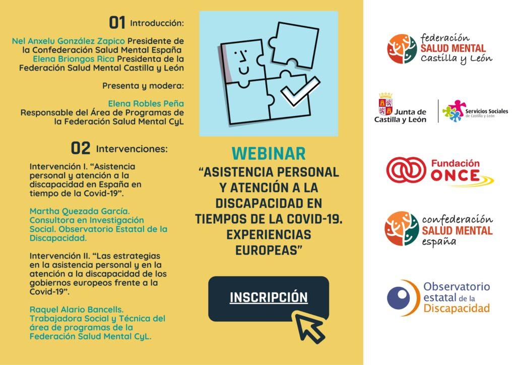 Asistencia personal y atención a la discapacidad en tiempos de la Covid-19. Experiencias Europeas