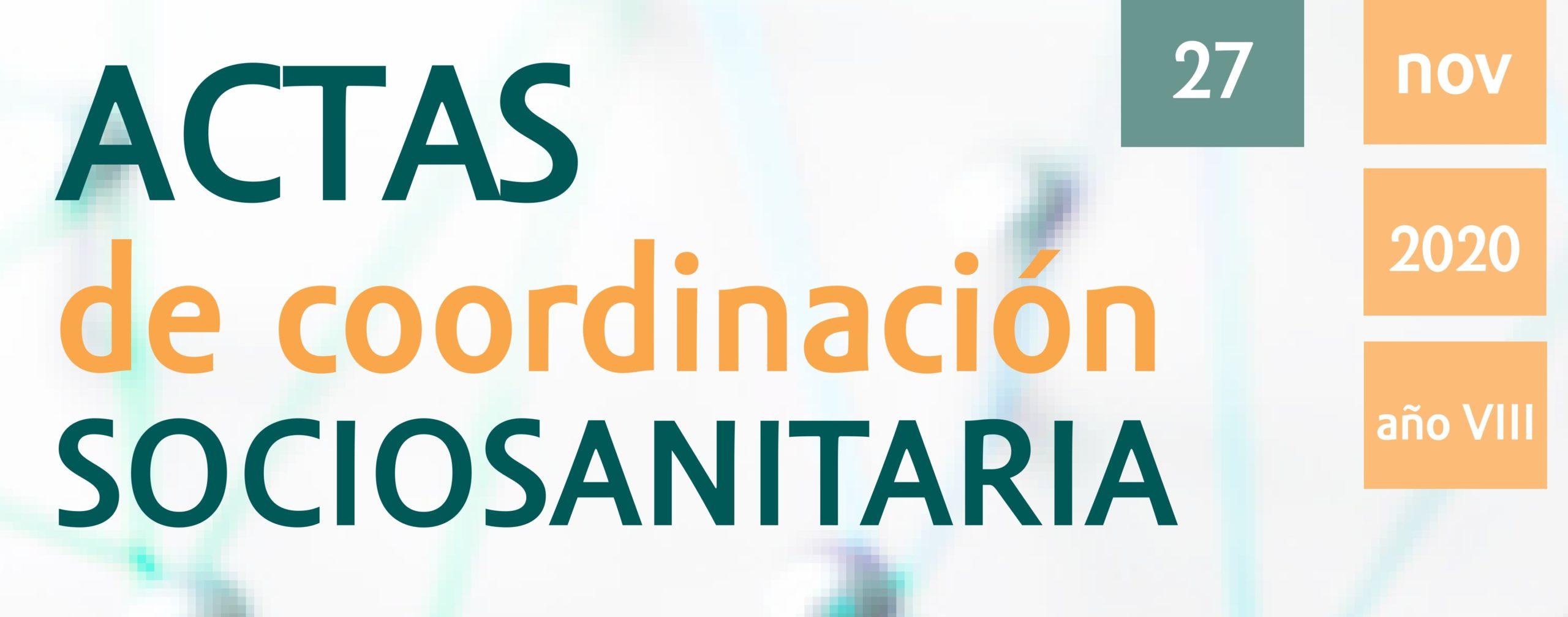 Actas de Coordinación Sociosanitaria 27